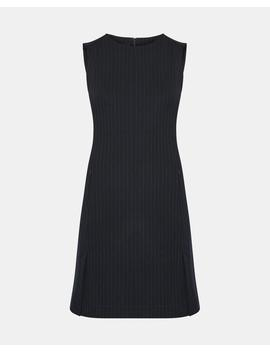 Pinstripe Vent Shift Dress by Theory
