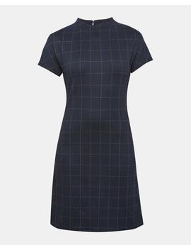 Plaid Dolman Shift Dress by Theory