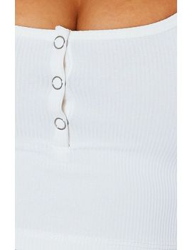 Cleo Ribbed Crop White by White Fox
