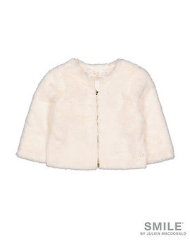 Smile By Julien Macdonald White Faux Fur Jacket by Mothercare