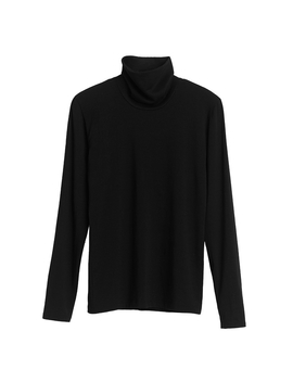 Slim Turtleneck Long Sleeve Tee by Cuyana