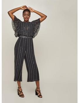Black Embellished Jumpsuit by Miss Selfridge