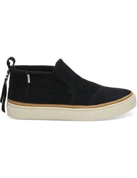 Black Suede Women's Paxton Slip Ons by Toms