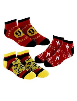 Harry Potter Three Pair Ankle Sock Set   Adult by Bioworld