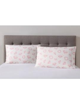 Essential Home 2pk Rotary Print Microfiber Pillowcases – Pink Diamonds Essential Home 2pk Rotary Print Microfiber Pillowcases – Pink Diamonds by Kmart