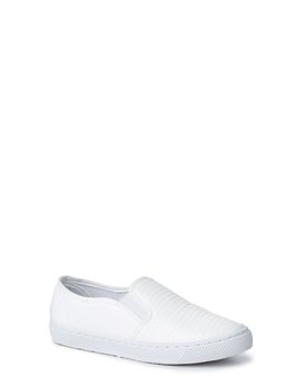Walk Into My Life White Slip On Sneakers by Qupid