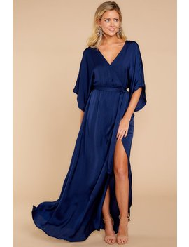 Can't Look Away Navy Maxi Dress by Aakaa