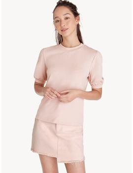 Rounded Puff Sleeve Top   Pink by Pomelo