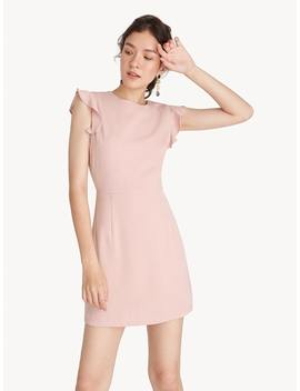 Mini Ruffle Cap Sleeve Dress   Baby Pink by Pomelo