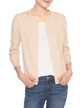 Petite Machine Washable Forever Pointelle Cardigan by Banana Republic Factory