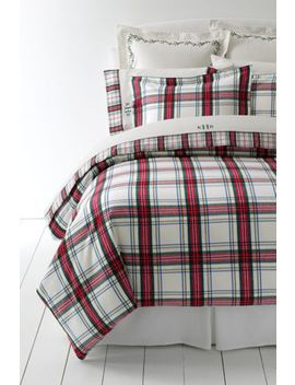 5oz Velvet Flannel Plaid Duvet Cover by Lands' End