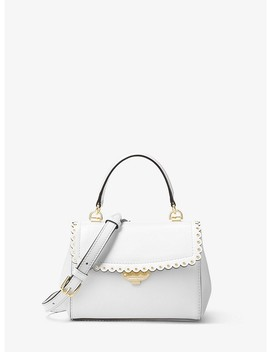 Ava Extra Small Scalloped Leather Crossbody by Michael Kors