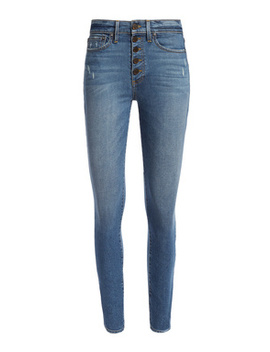 Good High Rise Exposed Button Fly Jean by Alice And Olivia