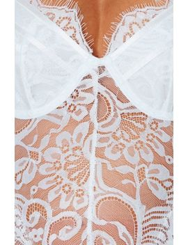 Decadent Lace Bodysuit White by White Fox