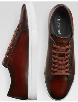Belvedere James Brown Leather Sneakers by Mens Wearhouse