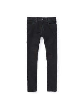 Black Stonewashed Jeans   Slim by Flint And Tinder