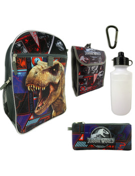 Universal Studios Jurassic World 5 In 1 Backpack Universal Studios Jurassic World 5 In 1 Backpack by Kmart