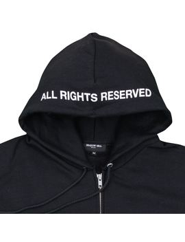 "Black And Green Champion X Shadow Hill ""All Rights Reserved"" Zip Up Hoodie by Shadow Hill"