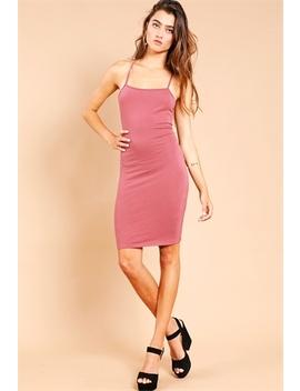 Bodycon Lace Up Mini Dress by Papaya