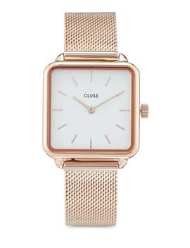 La Garconne Rose Gold Mesh/White Watch by Cluse