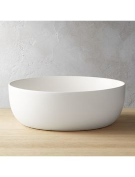 Crisp Matte White Serving Bowl by Crate&Barrel