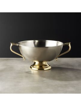 Edith Silver Footed Bowl by Crate&Barrel
