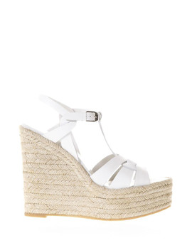 Women's Porcelain Leather Espadrilles by Saint Laurent                              Sold Out