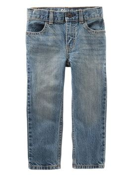 Straight Jeans   Natural Indigo Wash by Oshkosh