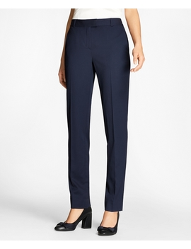 Tapered Stretch Wool Trousers by Brooks Brothers