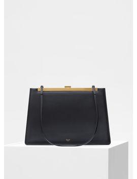 Soft Medium Clasp Bag In Smooth Calfskin by Celine