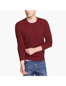 Cotton Piqué Crewneck Sweater by J.Crew