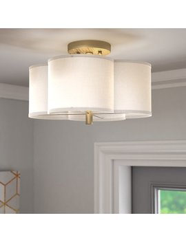 Willa Arlo Interiors Harriett Scalloped Semi Flush Mount & Reviews .Ca by Willa Arlo Interiors