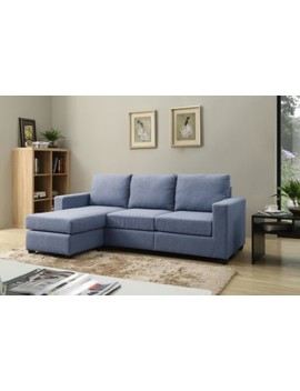 Nathaniel Home Alexandra Small Space Convertible Sectional, Multiple Colors by Leonel Signature