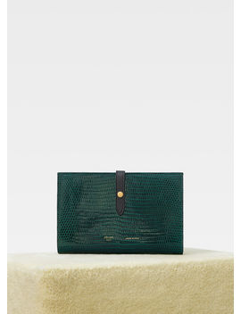 Strap Large Multifunction In Lizard And Shiny Calfskin by Celine