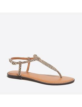 Calf Hair T Strap Sandals by J.Crew