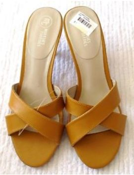 Womens Gold/Yellow Low Heels/Shoes Mootsies Tootsies 8.0 Open Toe New W/O Box by Mootsies Tootsies