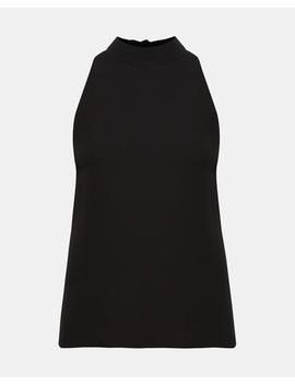 Silk Mock Neck Top by Theory
