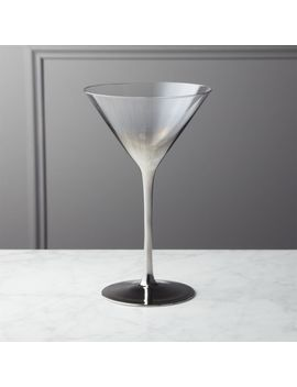 Irina Platinum Silver Martini Glass by Crate&Barrel