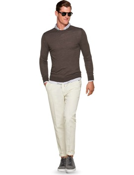Brown Crewneck by Suitsupply