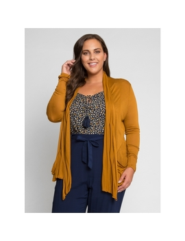 Plus Size Dare To Go Cardigan In Mustard by Wet Seal