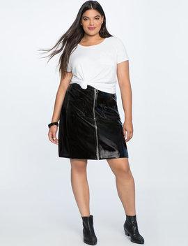 Vinyl Mini Skirt by Eloquii