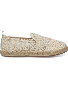 Natural Lace Leaves Women's Deconstructed Alpargatas by Toms