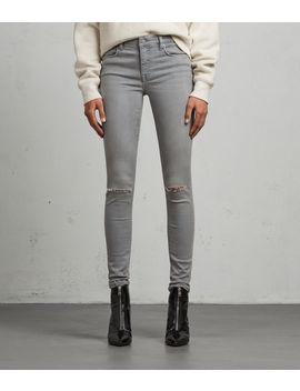 Grace Slashed Skinny Jeans by Allsaints