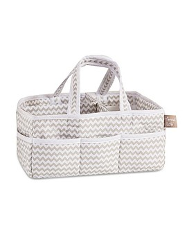 Trend Lab® Ombre Grey Chevron Diaper Caddy by Buybuy Baby