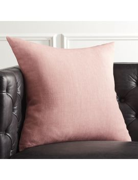 """20"""" Linon Rose Pillow With Feather Down Insert by Crate&Barrel"""