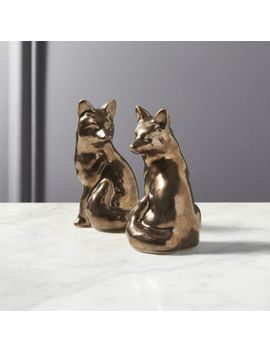 Foxy Bronze Salt And Pepper Shaker Set by Crate&Barrel