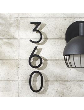 "Aurele 4"" Matte Black House Numbers by Crate&Barrel"