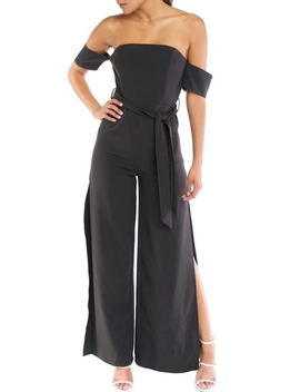 Off Shoulder Wide Leg Jumpsuit by Oc Avenue, Orange County