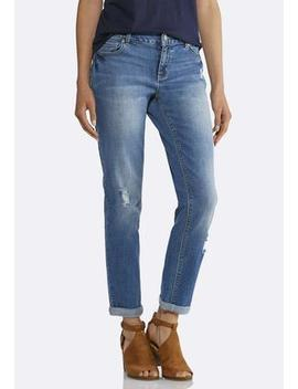 Relaxed Girlfriend Ankle Jeans by Cato
