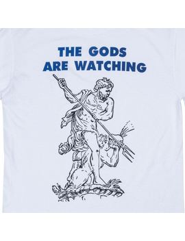 The Gods Are Watching White Long Sleeve by Shadow Hill